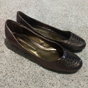 Alligator print shoes
